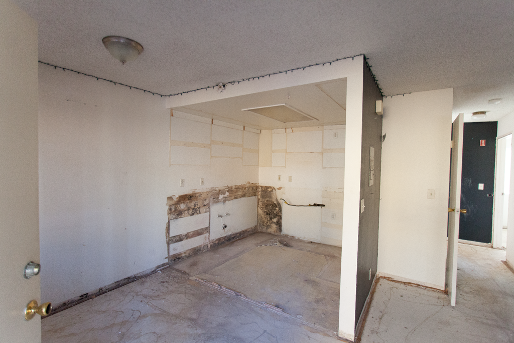 Demo'd kitchen in Echo Park