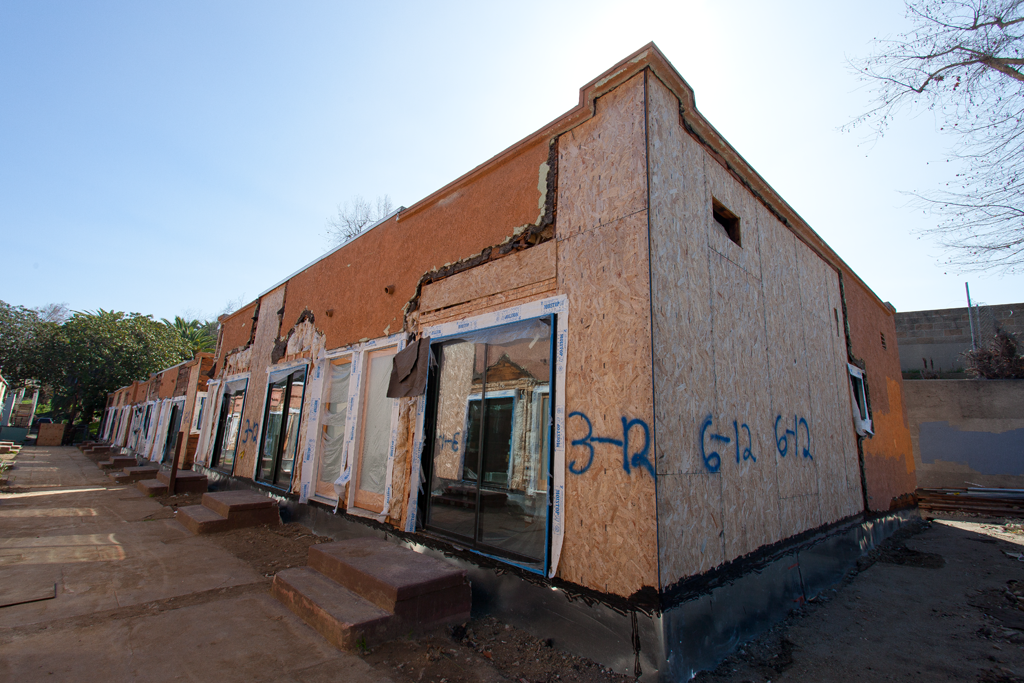 stucco, exterior, apartment building